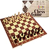 Professional Wooden Chess Set Board - Chess Set for Adults and Kids with Wood Pieces Board Game for Home and Travel
