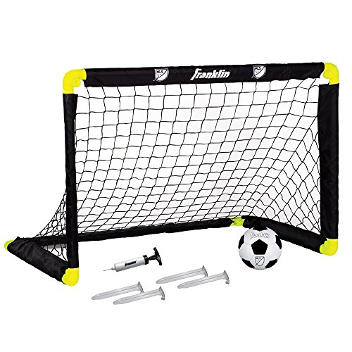 Franklin Sports MLS Mini Soccer Goal - 36 x 24 Inch - Includes Size 1 Soccer Ball and Ball Pump