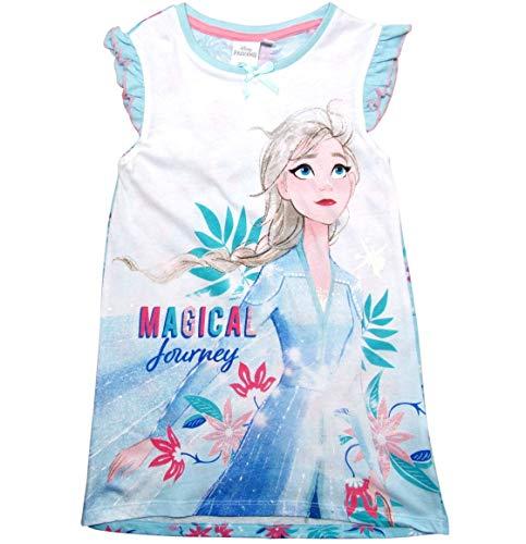 Frozen Nachthemd Nachtkleid Mädchen Disney (116, Blau/Blue)
