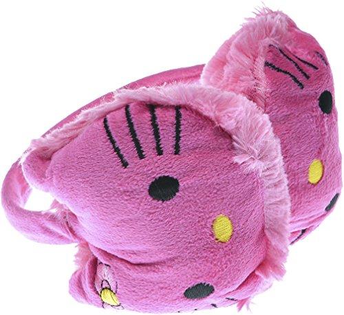 Hand By Hand Girl Hello Kitty Earmuff Ear Warmer Animal Faux Fur [Deep Pink.](One Size)