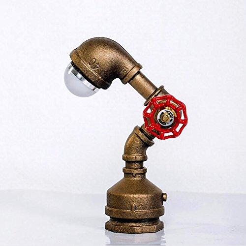 TOYM UK Loft style américain rétro créatif eau pipe lampes bar chambre lit lampe de table