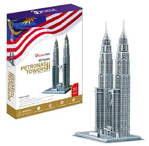 3D three-dimensional puzzle Petronas Twin Tower Building (japan import)