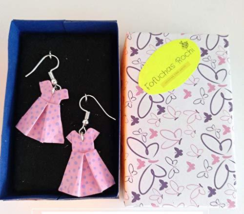 Pendientes Origami Originales Personalizados Para Mujer Chicas Niñas