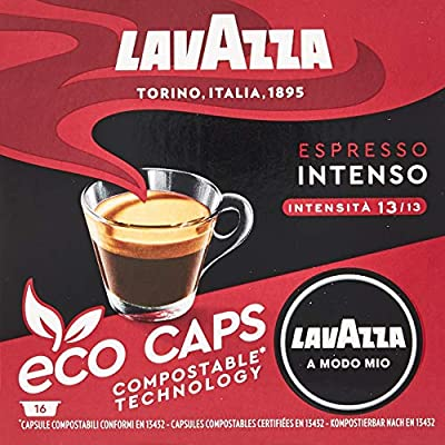 Lavazza A Modo Mio Eco Caps Coffee Pods, Espresso Intenso - 16 Pack of 16 (256 Capsules), 2.81 Kg