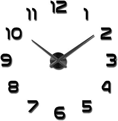 ZLZGZ 3D Sticker, Wall Sticker Wall Clock, Large Size, DIY, Acrylic Mirror