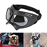 NAMSAN Dog Goggles Small Breed UV Dog Glasses Windproof Doggy Sunglasses Puppy Eyewear for Long Snout Tiny Dogs, Soft Frame, Silver Lens