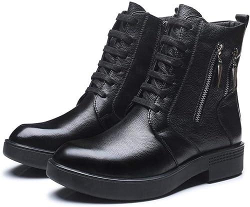 Oudan botas Masculinas de Invierno de Felpa Gruesas de Ocio al Aire Libre (color   44, Tamaño   negro)