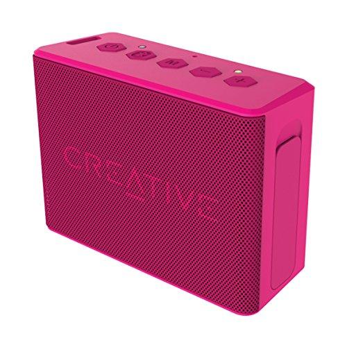 Creative MUVO 2c - Leistungsstarker, kompakter, wetterfester Wireless Bluetooth Lautsprecher (für Apple iOS/Android Smartphone, Tablet/MP3) rosa