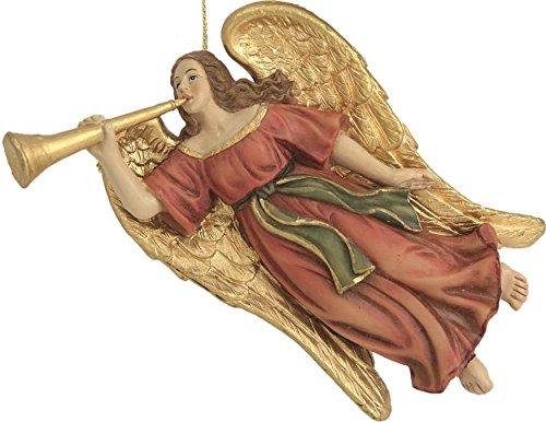 Krippenfiguren, Engel fliegend, mit Posaune passend für 12-15cm Figuren (44635094466)