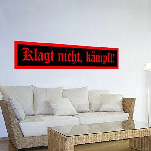 Copytec Klagt Nicht, kämpft Bundeswehr WK 2 WK 1 WH Motto Zitat Friedrich der Große Fritz Wandtattoo Aufkleber.120x21cm#1815W