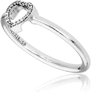 Puzzle Heart Frame Silver Ring