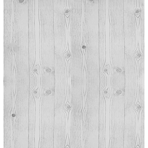Vit och svart tapet trä självhäftande trä rand randig vinylfilm skala och klistra kontaktpapper björk avtagbara papper klibbig baksida plastrulle för kök vardagsrum skåp 44 x 500 cm
