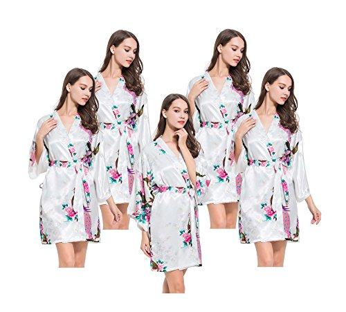 Fete Fabulous - Robe de chambre - Femme - Blanc - Taille Unique