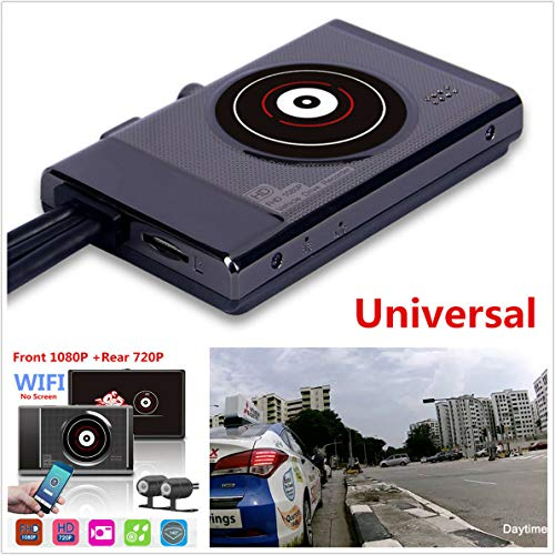 Buy WiFi 1080P Full HD Motorcycle Camera Hidden DVR Recorder+Rearview Camera DashCam