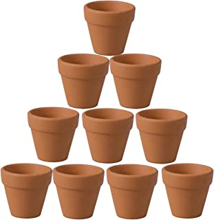 Cabilock 20pcs Small Mini Clay Pots 1.2 inches Terracotta Pot Ceramic Pottery Planter Pots Cactus Flower Succulent Nursery...
