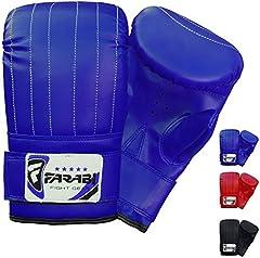 FARABI Boxeo Saco Boxeo Guantes MMA Guantes Guante Guantes de Entrenamiento (Blue, S)