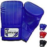 Guantes de boxeo para saco de boxeo para entrenamiento de artes marciales mixtas (MMA), azul, Small