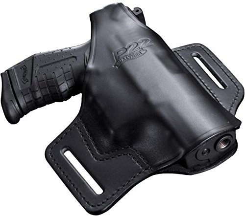 Walther Softair Guertelholster Leder P 22, schwarz, M