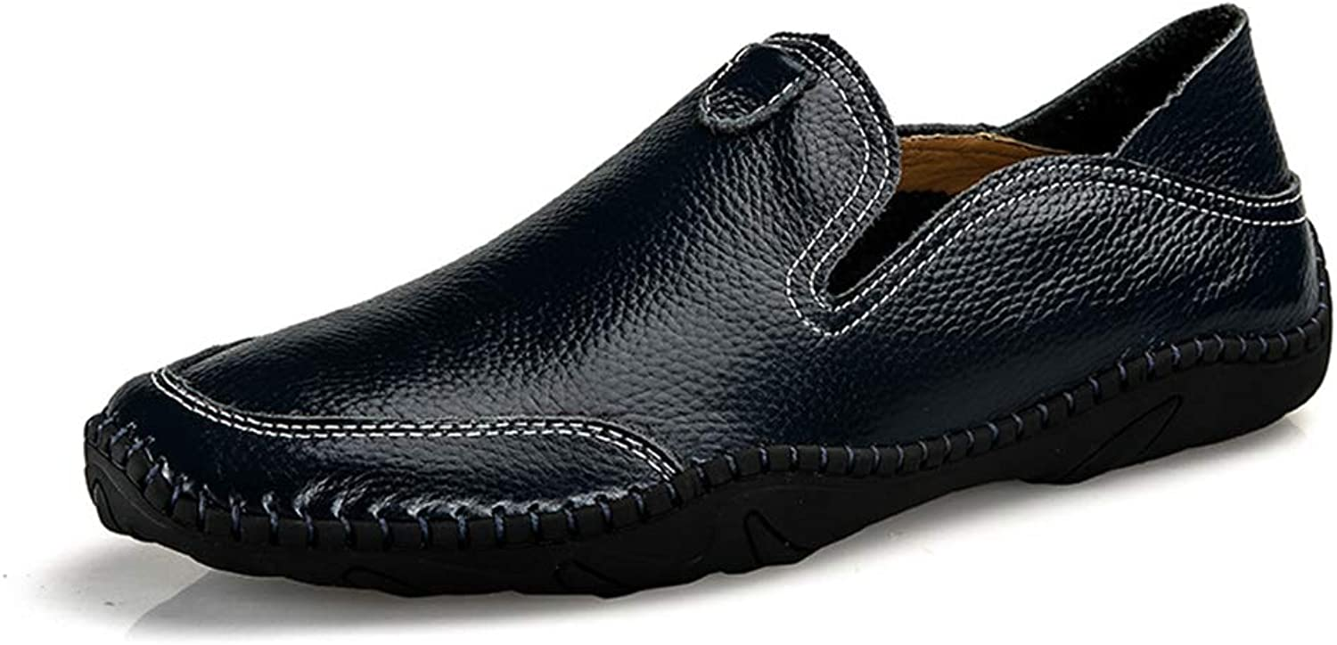 Men's shoes Casual Comfort Lazy shoes Loafers & Slip-Ons Flat Loafers Four Seasons Comfort Driving shoes,D,46