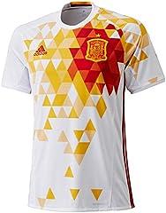 adidas Fef A JSY Camiseta, Unisex, Blanco/Rojo, XL