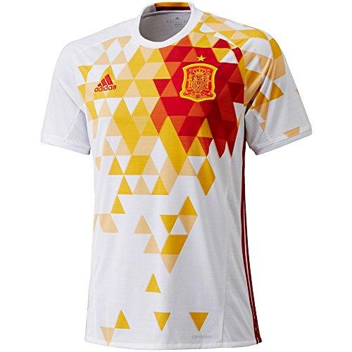 adidas Herren Trikot Uefa Euro 2016 Spanien Auswärts Replica, White/Power Red, S