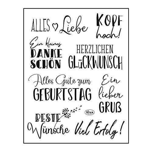 Viva Decor®️ Clear-Stamps (Alles Liebe) Silikon Stempel - Prägung Stempel - DIY Dekoration stanzen - Stempel Silikon - DIY Stamp - Stempel Prägung - Made in Germany