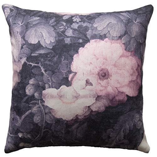 Homing Kissenhülle Kissenbezug Dekokissen Floral Blumen flieder, bedruckt (1 Stück) 45x45 cm dekorativer Kissenbezug 5298-10 Blumen Mauve