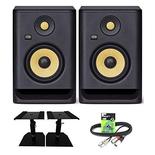KRK Rokit RP5 G4 Professional Active Powered 5' DJ Studio Monitor Speakers (Pair) with Gorilla...