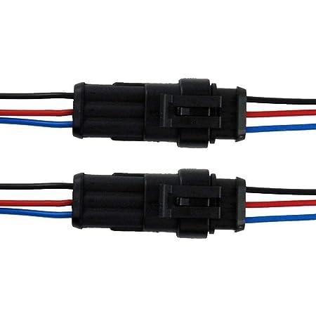 Qiorange 2 Tlg 3 Poliger Kabel Steckverbinder Elektronik