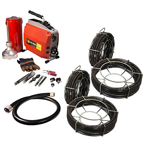 Steel Dragon Tools K60 Drain Cleaning Machine with Extra C8 & C10 Cables