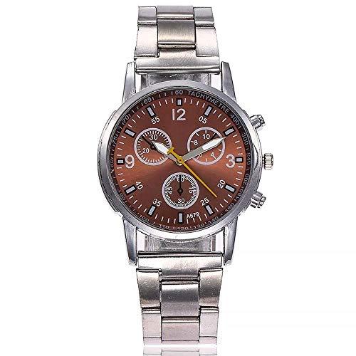 Uhren Damenuhren Watches Armbanduhren WatchDamenuhr Fashion Damen S Edelstahl Armbanduhren Quarzuhren-Braun