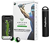Arccos Caddie 3rd Generation Smart Sensors (Set of 14 Sensors) | with PlayBetter 2200mAh Portable Charger | Golf GPS Live Auto Shot Tracking, Distances | A.I. Powered GPS Rangefinder