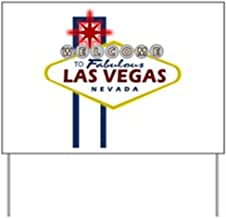 CafePress Las Vegas Sign Yard Sign Yard Sign, Vinyl Lawn Sign, Political Election Sign