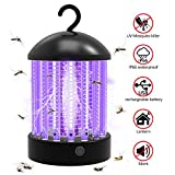 Lampe Anti Moustique, UV LED Pièges à Moustiques Tueur de Moustiques Attirer d'inhalateur de...