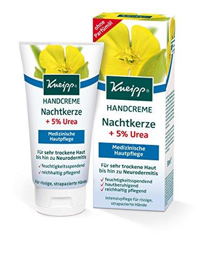 Kneipp Handcreme Nachtkerze mit 5% Urea, 4er Pack (4 x 50 ml)