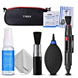 TYCKA Camera Cleaning Kit TK004 (with Waterproof Bag), 30ml Non-Toxic Alcohol-Free Cleaning Solution, Improved uni-Body air Blower, Microfiber Cleaning Cloth for DSLR, Lens and Electronics