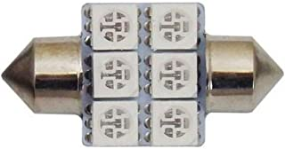 Motolite MT20800W 12V Double Contact Festoon Globe LED Bulb 2pc, White