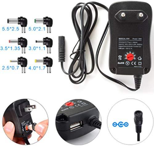 7,5 12V AC//DC 3000mA 2.1A Universal Netzteil 3 9 6 5 6 Stecker! 4,5