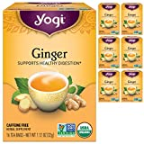 Yogi Tea - Ginger (6 Pack) - Supports Healthy Digestion - 96 Tea Bags