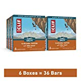 Clif Bar Energy Bars – Bulk Snacks - Caramel Toffee w/ Sea Salt (6 Packs, 36 Total Protein Bars)