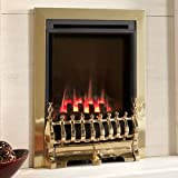 Flavel Natural Gas Fire - Inset Windsor HE - Traditional - Slide - Brass