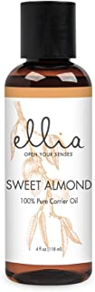Sweet Almond Blend Aromatherapy Essential Oil   118 mL, 100% Pure, Therapeutic Grade Aromatherapy, Cold Pressed   Naturally High in Vitamins A & E, Base or Carrier Oil   Ellia