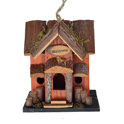 Birdhouse English Cottage-Style Courtyard Garden Bird House, a Comfortable Resting Place for Birds Garden Ornament (Color : A, Size : Free size)