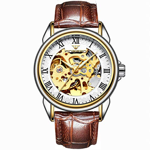 Reloj de Pulsera mecánico de Acero Inoxidable Resistente al Agua de Moda para Hombre-A