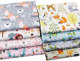 8 piezas 46 cm x 56 cm parte superior algodón Craft tela Bundles Fat Quarters Patchwork Cartoon Prints Material