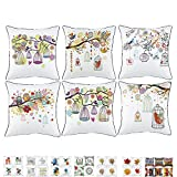 2 Piece Pattern Decorative Geometric Thick Canvas Cushion Covers