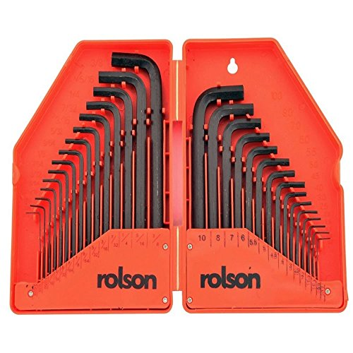 Rolson 40345 Hex Key, 30 Pieces