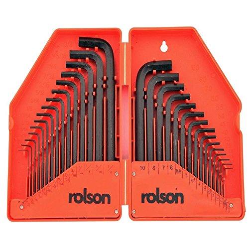 Rolson 40345 Sechskantschlüsselsatz, 30-teilig