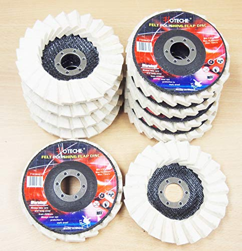 Lot of (10) Felt Polishing Flap Disc Grinding Wheel 4-1/2
