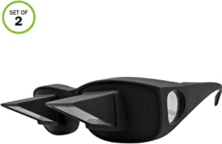 Evelots Prism Bed Glasses-Read/Watch TV Lying Down-Use Over Your Glasses-Set/2